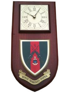 Royal Marines Sniper Regimental Wall Plaque Clock